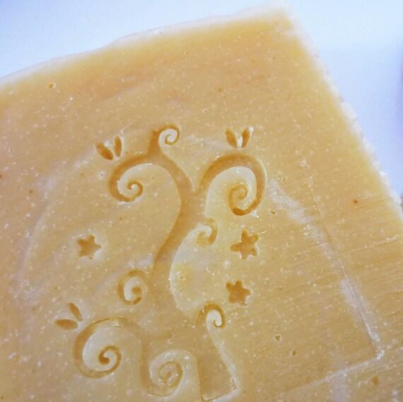 Decorated Organic Italian Honey Handmade Soap