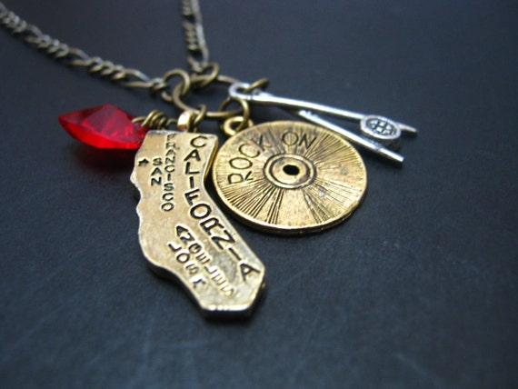 California Charm Necklace - LA
