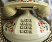 Vintage Floral Telephone - Empress Telephone