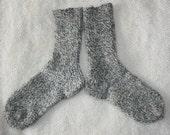 knitted unisex 100% organic wool socks, feet lenght 23-25 cm