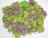 Hand Knitted Chunky Scarf,  Mixed colors - SALE
