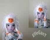 Goose hat for BJD ,Kaye Wiggs dolls for Lisa