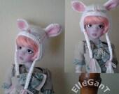 Bunny Rabbit cashmere hat for BJD