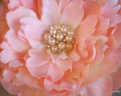 Beautiful Pink Silk Flower Headband for Baby or Girl with Exquisite Embellishment