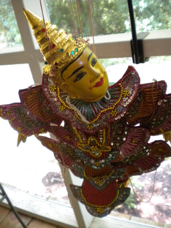 Marionette or Puppet Indian -- appears handmade