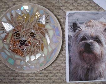 CUSTOM dog MOSAIC PET portrait