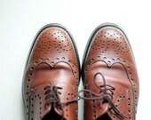 VTG 80s Classic Lloyd Brogue Mens Shoes / Godfather style /  eu 42 / mens us 8