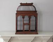 Vintage Wooden Birdcage