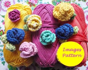 Small Roses Crochet Pattern