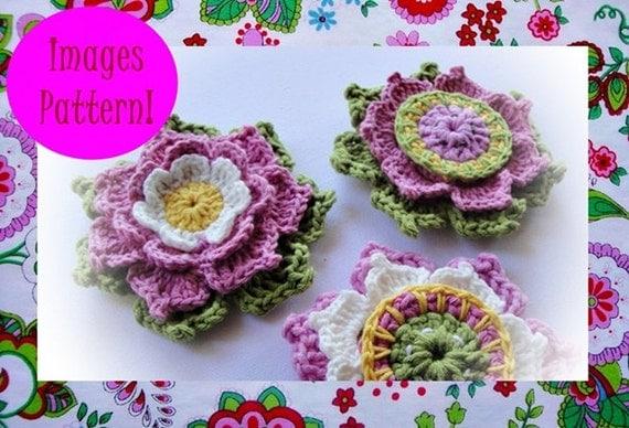 Set Of Beautiful Flowers Crochet Pattern