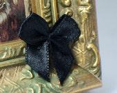 10 Black Ribbon Bows