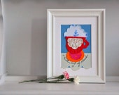 Made to order - Whimsical wall art - mismatched teacup - English tea party