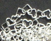 Sterling Silver Tiny Hearts Specialty Chain, Sweet Little Links Delicate Adorable Chain for Jewelry Making (1 foot)