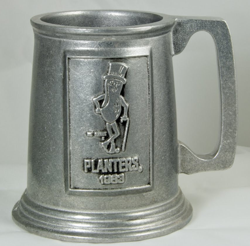 Planter S Mr Peanut 1983 Pewter Mug Vintage Antique