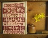 Knitted Birthday Card