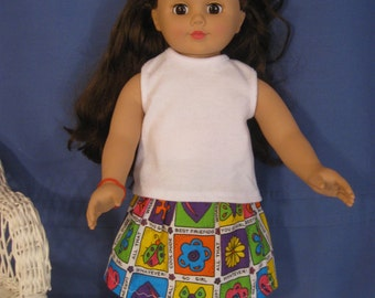 American Girl doll or any 18 inch doll skirt
