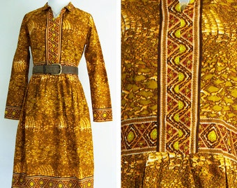 Handmade Vintage Dress with Stunning Detailing and Patterning