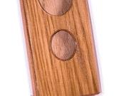 Handcrafted wooden business/bank card holder. Oak wood