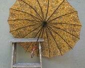 Beautiful Vintage 1950's Ladies Floral Umbrella Parasol