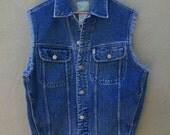 Vintage 1990's ESPRIT Cut off Denim Vest M