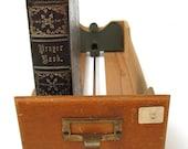 Antique Card Catalog Drawer Light Oak