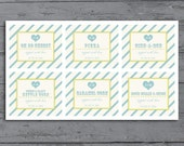Custom Candy / Popcorn Buffet Labels for Wedding or Party, Topped with Love, Printable