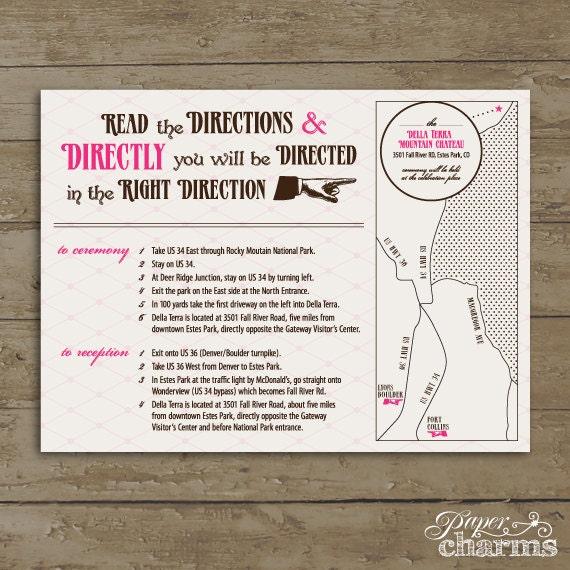 items similar to wedding direction card wonderland pdf