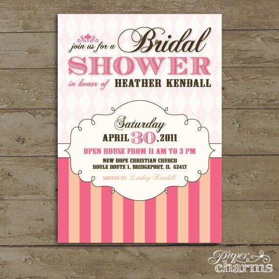 Items Similar To Wedding Shower Invitation, Vintage