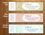 Personalized Wrap Around Address Labels - DIY Printable PDF - Weddings, Baby Showers and more