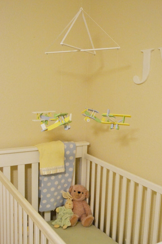 Custom listing for Lindsey: Custom Colored Airplane Mobile for Baby Come Fly With Me Mobile
