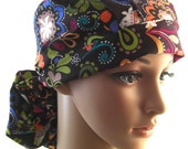 Birds of Norway,Surgical Scrub Hat,Scrub Cap, Vet Tech,Women's Surgical Scrub Hat,Front Fold Ponytail