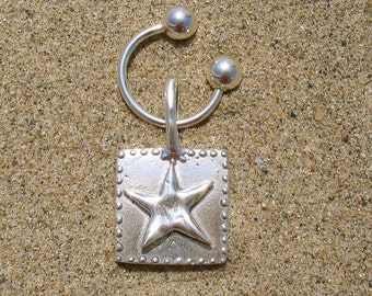 Starshine Sterling Silver Key Ring