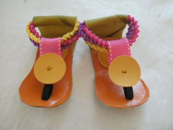 SHOES boho hippie Baby beach  SanDaLs    6 to 9 mnths