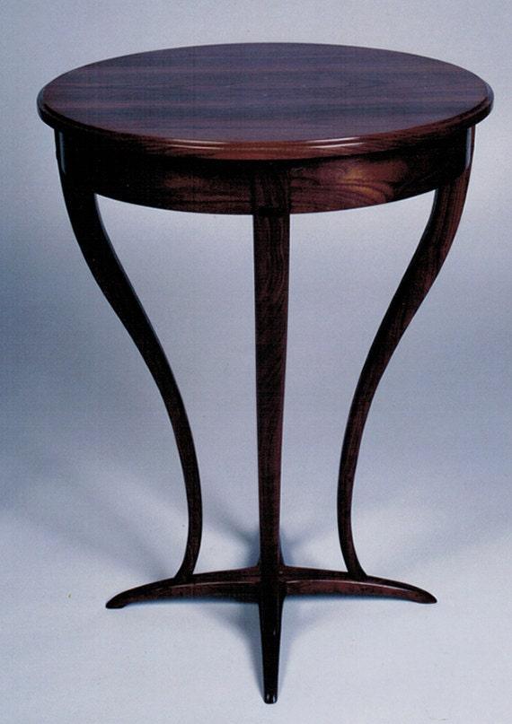Custom Walnut Table: Pedistal