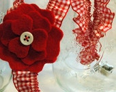 Red Ruffle Suspenders - Little Girl, Toddler, Gingham, Back to School