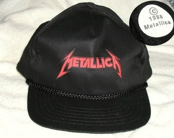 Metallica Hat - Rare, Early Tour Cap, Original Vintage from Justice for All, Deadstock