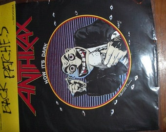 Anthrax Backpatch - Now It's Dark from State of Euphoria (1988)  - DeadStock, like New in Original Packaging