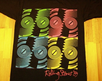 Rolling Stones Steel Wheels Tour T shirt -1989 DeadStock Licensed w Tags