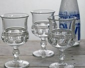Indiana Glass Kings Crown Goblets