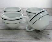 Pyrex Milk Glass Coffee Cups