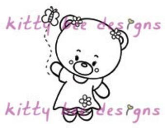 Follow the Butterfly Bear Digi Stamp