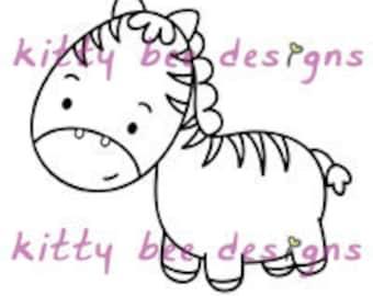 Zoobi the Zebra  Digi Stamp (1 OF 7)