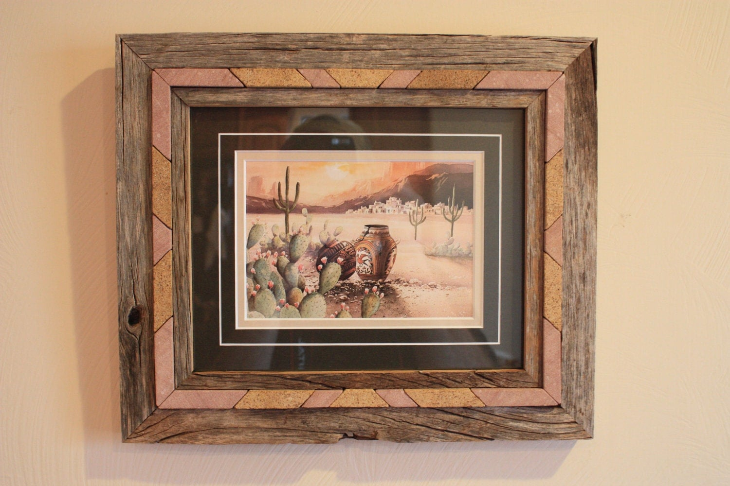 Picture Frame With Native American Art Print