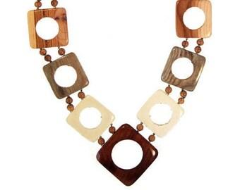 Wooden Beads Rumba. Handmade wooden jewelry.