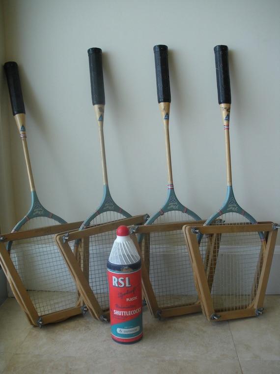 Vintage 50's J C Higgins Badminton set with RSL Shuttlecocks