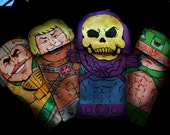 Masters of the universe paper bag puppet  4 pack.