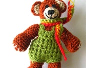 Bear in shorts, crochet soft toy, teddy bear, amigurumi