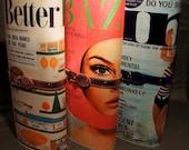 Design Your Own Vintage 60s 70s Mod Magazine Clutch Purse Bag