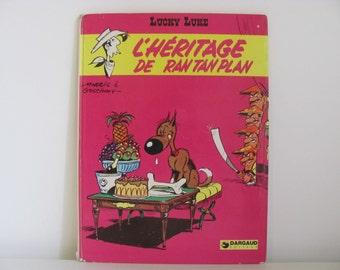 Lucky Luke 1973 Vintage French Adventure Comic L'Héritage de Ran Tan Plan