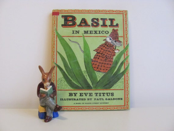 Vintage 1976 Mouse Detective Book Basil In Mexico
